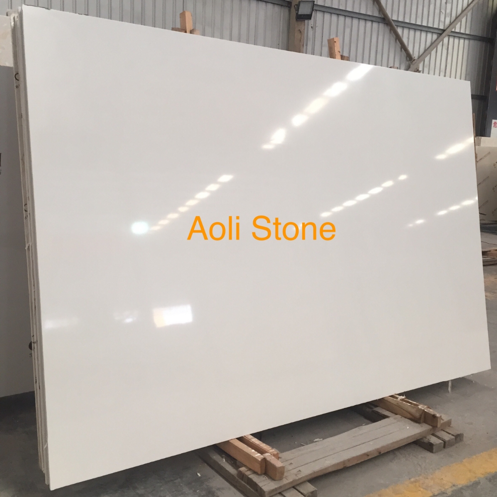 Good quartz surface polished slabs pure white artificial quartz stone