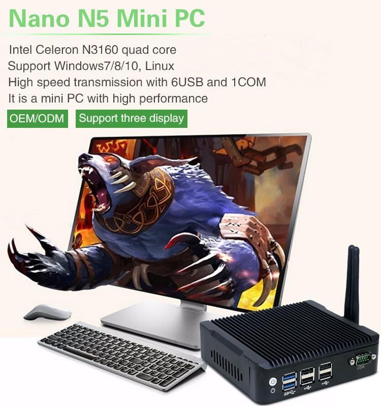 Iwill New Arrival Intel N3160 Quad Core Dual Lan 4* Usb 2* Com ...