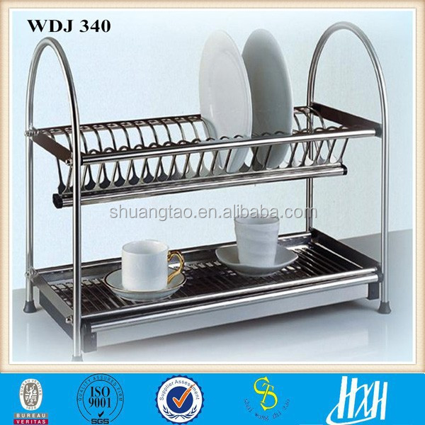 2015 New Style stainless steel Plate Rack Stand, Kitchen Dish holder Stand( Factory )