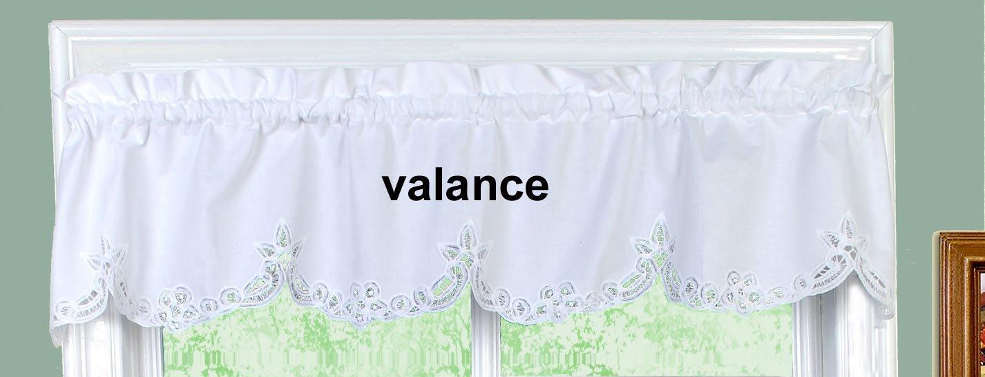 Get Quotations Battenburg Lace Kitchen Curtain Valance WHITE