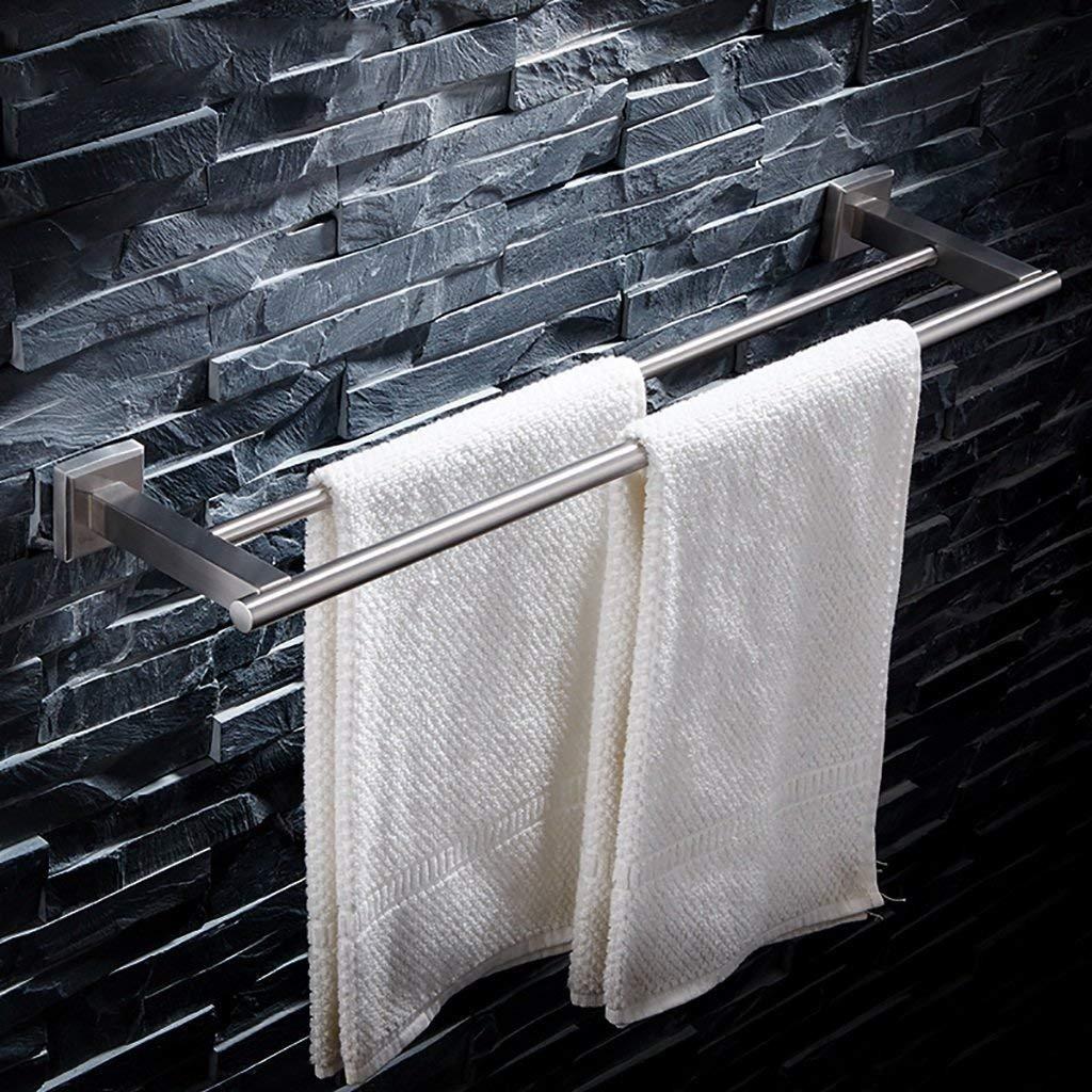 EQEQ Rooms Bath Towel Rack Bath Rooms, 304 Stainless Steel Towel Holder Double Towel Racks, Towel Rails, Stainless Steel Towel Rail Towel Storage Rack