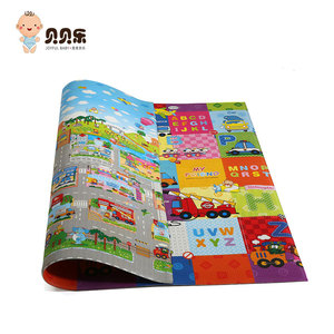 Eco friendly animal pattern xpe material 15mm thick kids foam play mat