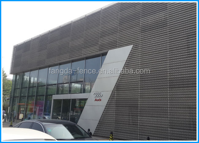 Audi 4s Exterior Wall Decorative Perforated Metal Sheet