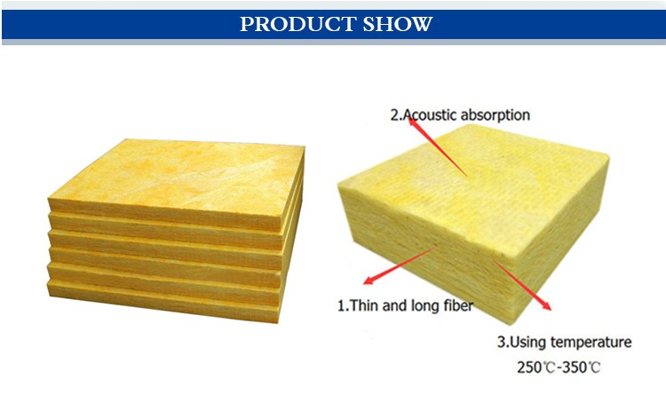 Thermal and sound insulation glass fibre mineral wool for Sound insulation glass