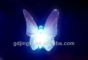 new style cheap wholesale plastic LED color changing butterfly home decor