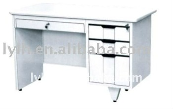 Steel Furniture Metal Office Table With Three Drawers