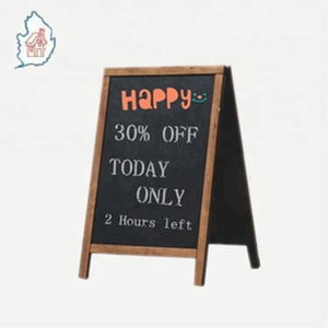 Magnetic slate chalkboard a-frame shape with double side chalkboards
