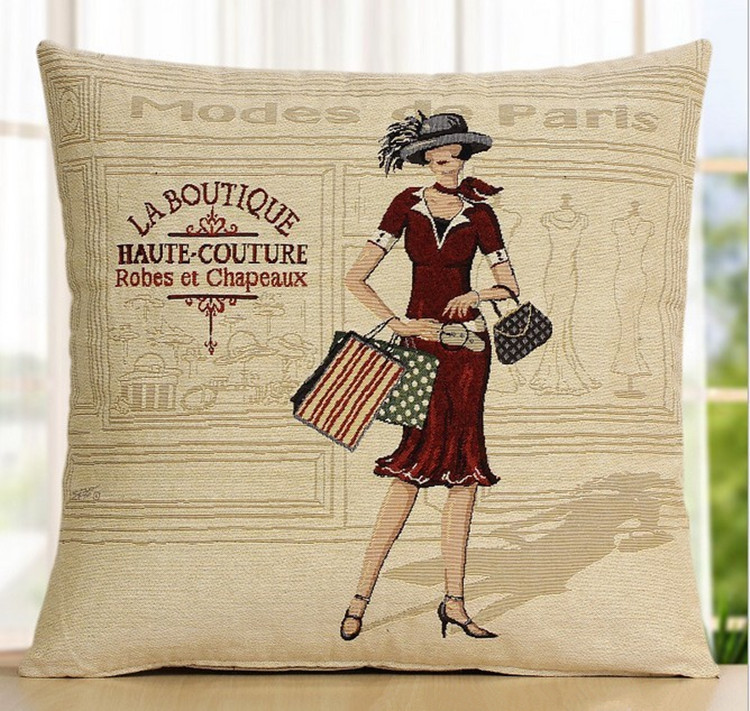 Designed home textile sofa decorative cushion covers/shopping women printed linen pillow covers luxury part/wedding gifts