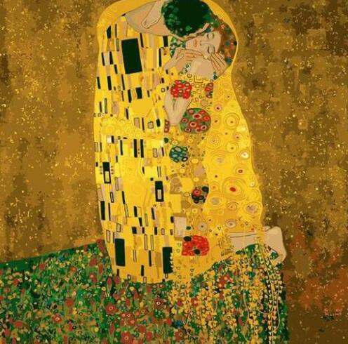 2058 Gustav Klimt The Kiss - Paint by Numbers Kits for Adults DIY