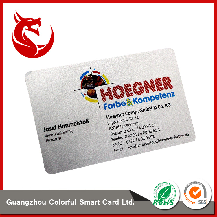 Fashionable cheap frosted silver flash card printing services sample