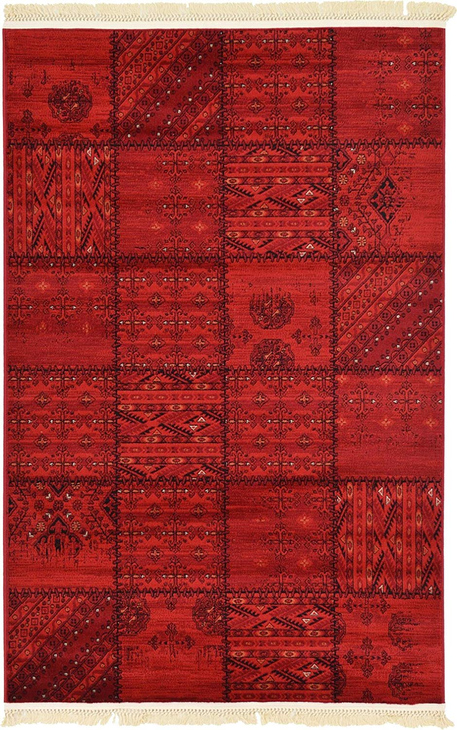 Get Quotations Traditional Bokhara Collection Area Rugs Red 4 X 6 Ft For Living