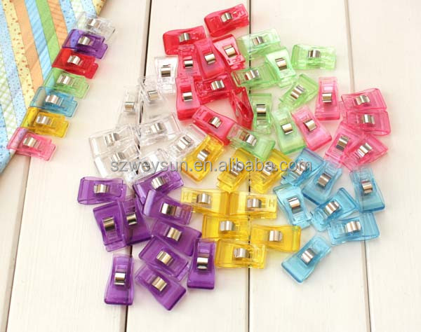 PVC Plastic <strong>Clips</strong> For Patchwork Sewing DIY Crafts, Quilt Quilting <strong>Clip</strong> 3.5*1.8CM Wholesale Retail 7 Colors Mixed