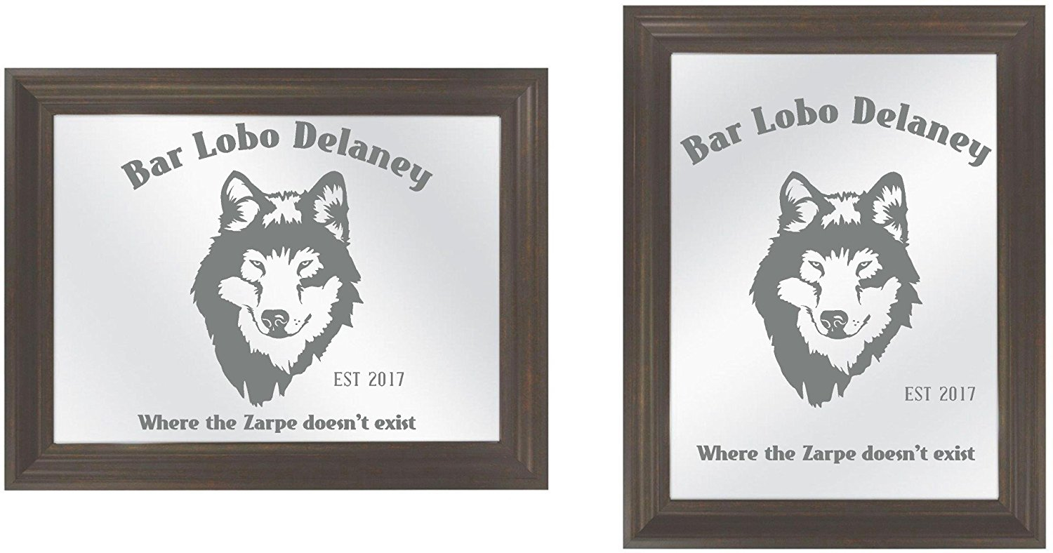 Get quotations · custom family name wolf wolves game room bar tavern saloon diy etched glass vinyl privacy film