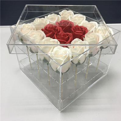 Hochwertige Transparente Acryl Blume Box Transparent Gemacht Ewige