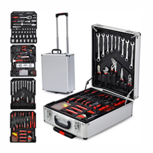 New professional tool case mechanics kit toolbox with carry trolley( without tools )