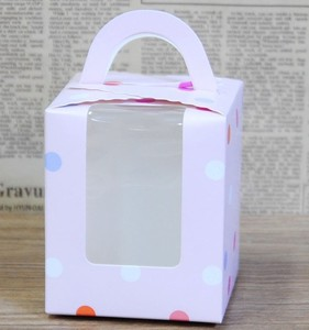 10 inches ice cream with window mini packaging cake box