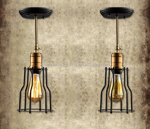 Fashionable little cage iron black pendant lamp/ceiling lamp for European market