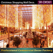 Custom commercial Christmas light decoration for shopping mall atrium lobby