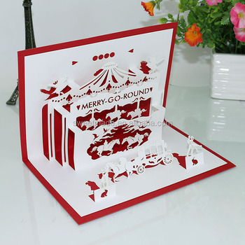 Luxurious Chinese Supplier 123 Greeting Birthday Cards Happy 3D Pop Up Card