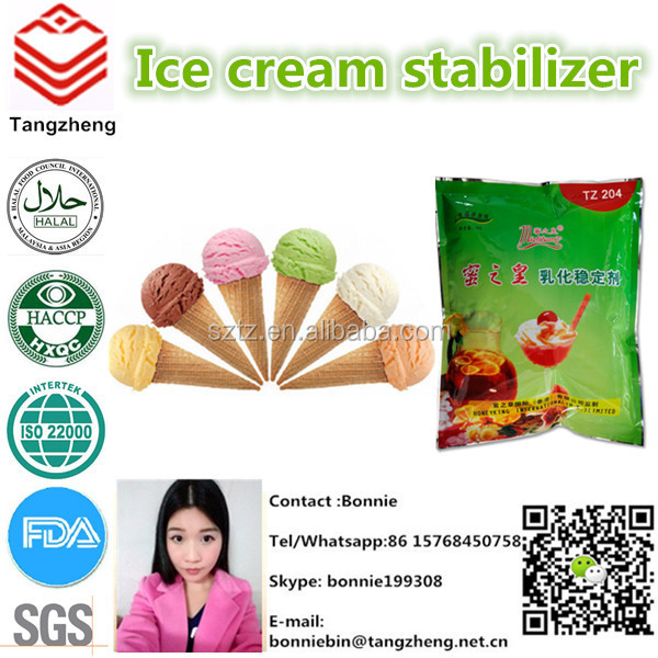 Food grade guar gum based ice cream stabilizer for popsicle