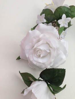 9 bloom rose white garland silk flowerswedding decorative garland 9 bloom rose white garland silk flowers wedding decorative garland mightylinksfo
