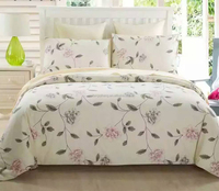 100% cotton printed bedding, bed in a bag sets