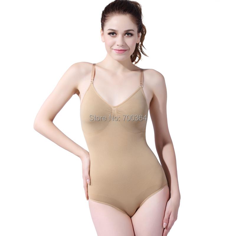 bc9009d0818f4 Get Quotations · Women Bodysuit Seamless Full Bodysuit Shaper Ladies  Stretch Leotard Slimming Shapewear Girdles