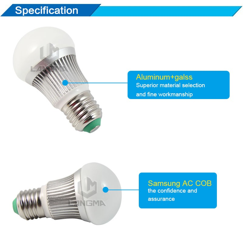5w ac led light bulb commercial lighting factory price samsung cob 5w ac led light bulb commercial lighting factory price samsung cob shenzhen manufacturer aloadofball Choice Image