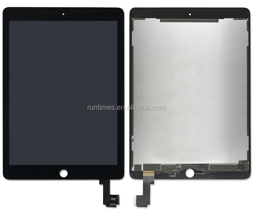 High Quality Full LCD With Touch Screen Assembly for Air 2 black