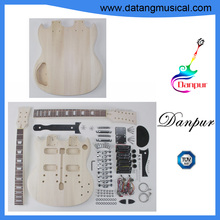 Danpur Datang unfinished sg style electric double neck diy guitar kit