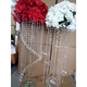 wedding decoration crystal flower stand with crystal pendant