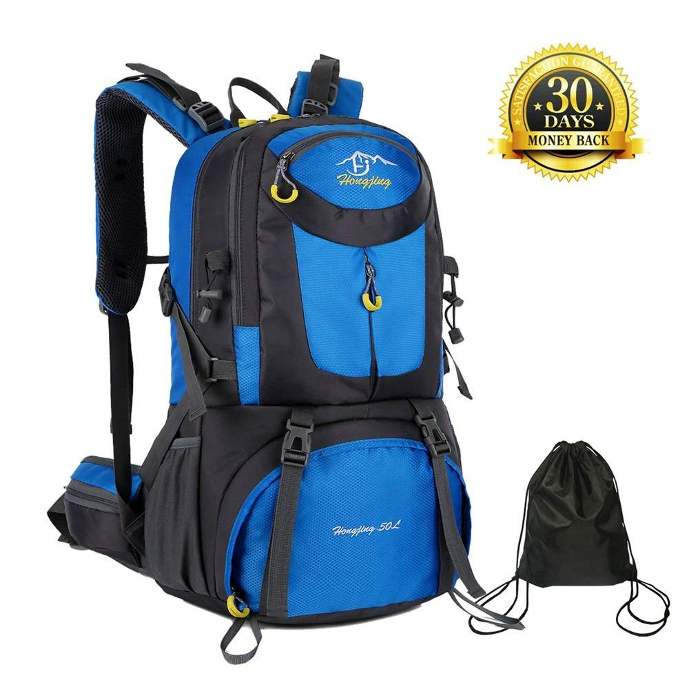 4bc089d31ea3 Get Quotations · 50L Hiking Backpack Hiking Daypacks Waterproof Lightweight  for Women or Men Climbing