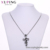 33432 Xuping stainless steel gun smoke color men jewellery,neutral punk style flame cross pendant
