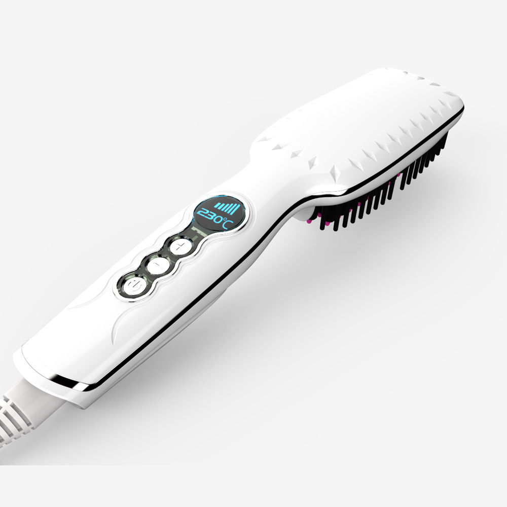 Electric Hair Straightener Brush Best for Beauty Styling 30W Professional Digital Straightening Comb