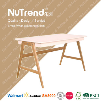 Solid Wood Folding Industrial Drafting Table