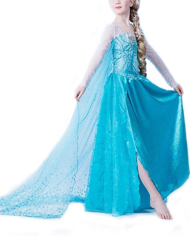 cheap frozen elsa girls fancy dress costume find frozen. Black Bedroom Furniture Sets. Home Design Ideas