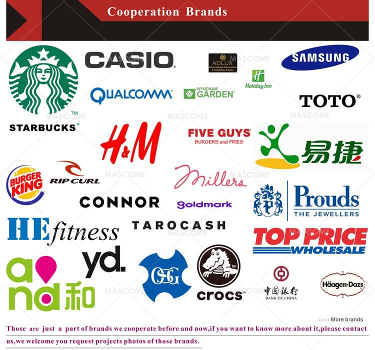 Name Brand Store: 외부 매달려 광고 옥상 건물 표지를,어둠 속에서 건물 표지를