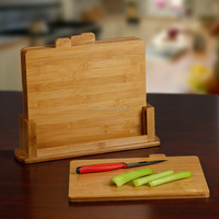 Bamboo Index Cutting Boards- All Natural Chopping Board with 4 Index Tabs