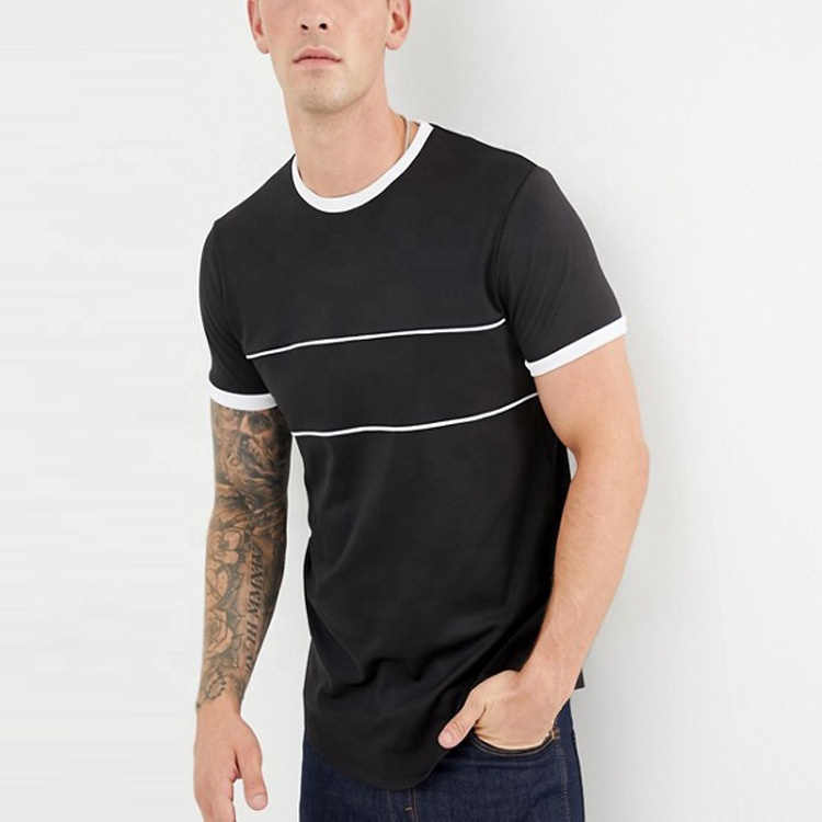 China import kleding longline mannen t-shirt t-shirt in track stof