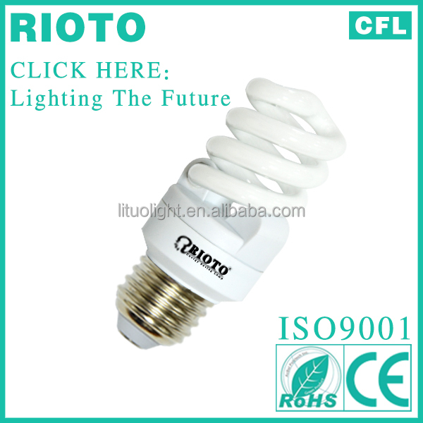 china factory lighting bulbs E27 base T3 10mm 20W full spiral power saving ESL light bulb