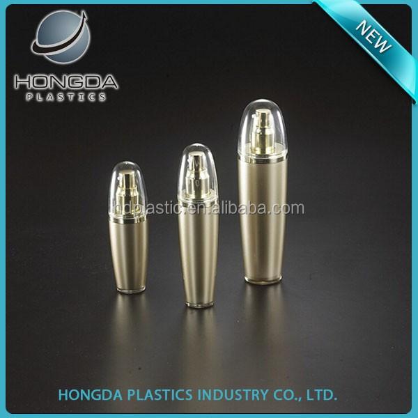 Round Cap Gold Acrylic Lotion Pump Bottle Wholesale