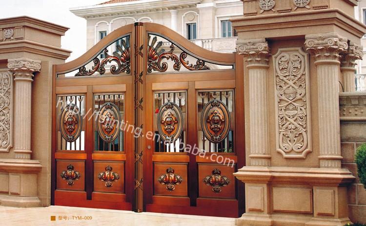 Wrought iron side gates iron gate door prices pedestrian - Interior decorative wrought iron gates ...
