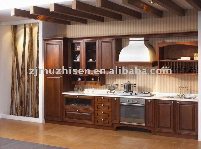 classique en bois massif armoires de cuisine - Cuisine Classique En Bois Massif