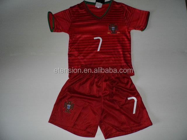 a7c5d72359 Personalizado Número Nome Crianças Baratos Uniformes De Futebol Portugal