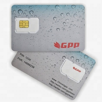 PVC contact 6pin chip GSM Blank programmable Sim Card