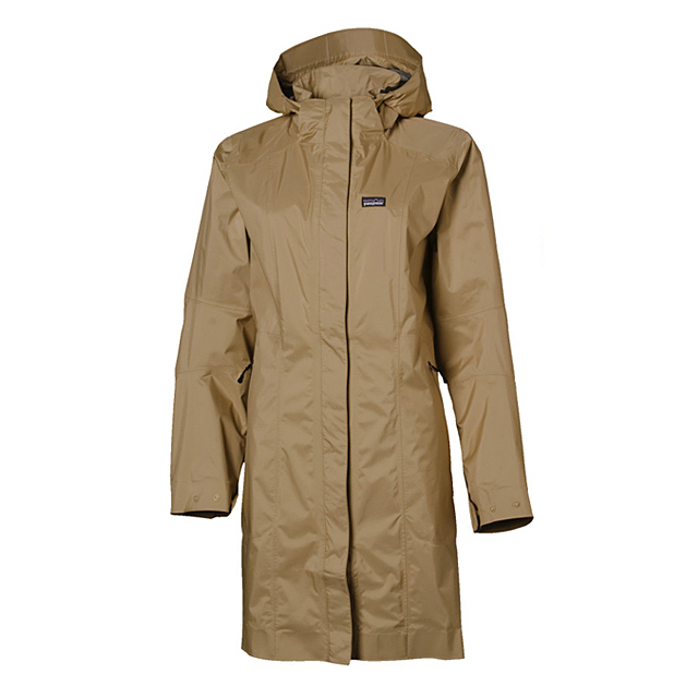 Hot Sell Custom Design Women Spring Autumn Khaki Colour PU Coated Polyester Lady Rain Jacket Waterproof Hooded Long Rain Coat