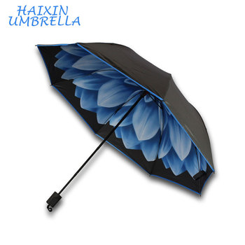 Wholesale Corporate Gifts Cheap Promotional Photo Printed Advertising Inside Flower Umbrella for Market Expanding