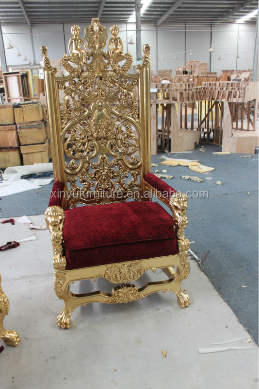 Antique Royal King Size High Back Throne Chair Xyn2978 - Buy Royal King  Size High Back Throne Chair,Antique Gold Carved High Back Chair,King Size  Chairs ... - Antique Royal King Size High Back Throne Chair Xyn2978 - Buy Royal