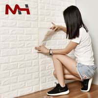 Custom Fast Delivery Cheap 3D Brick Wallpaper Wall Papers Home Decor Waterproof 3D Brick Wallpaper For Bathrooms