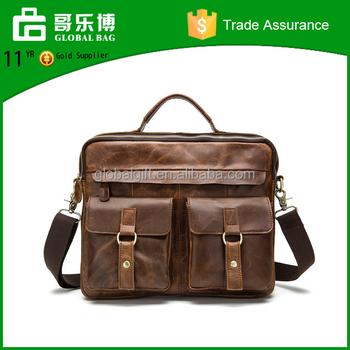 20ff983688c9f Real Crazy horse leather messenger bag hand bag for man